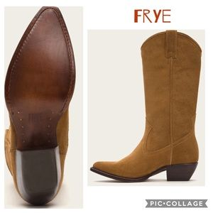 Frye Sacha tall cowboy leather boots
